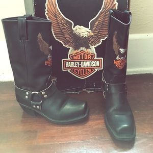 Vintage 90s Harley Davidson boots